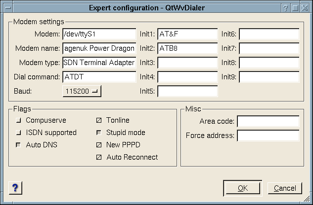 Extended account configuration